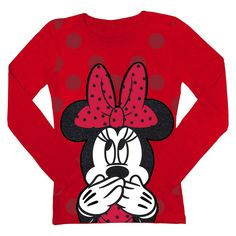Disney� Minnie Mouse Infant Toddler Girls' Long Sleeve Tee