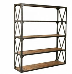 Industrial Reclaimed Large Bookcase