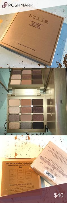 Eyes Are The Windows Eye Shadow Palettes (soul) NEW! UNUSED! AUTHENTIC! 😊🛍📪📦😍Palette is curated with 12 luxurious eye shadows to illuminate your inner beauty. -Light(soft peach matte) -Individual(med warm rust brown matte) -Being(deep warm brown matte) -Kitten(light champagne shimmer) -Affection(med copper shimmer) -Character(deep coppery brown shimmer) -Thought(soft taupe shimmering) -Heart(med cool brown matte) -Peace(cool brown shimmer) -Vitality(light warm peach shimmer)…