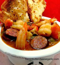 Gumbo...this is a pretty traditional Gumbo recipe.  It's a smash hit at my house, and it probably will be at yours too!