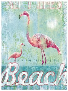 All I Need w/ Flamingos Artwork: Beach House Decor, Coastal Decor, Nautical Decor, Coastal Living Boutique, Tropical Decoryes thank you! Flamingo Art, Pink Flamingos, Flamingo Bathroom, Flamingo Beach, Bathroom Colors, Beach Cottage Style, Beach House Decor, Cottage Chic, Tropical Decor