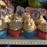 4th of July Free Printable Cupcake Wrappers and Picks
