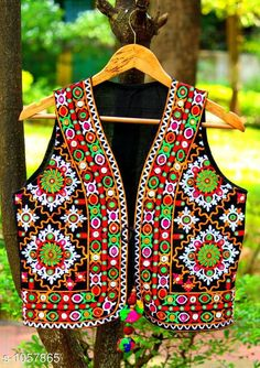Ethnic Jackets & Shrugs Gorgeous Cotton Kutchi Work Ethnic Jacket  *Fabric* Cotton  *Sleeves* Sleeves Are Not Included  *Size* S- 36 in, M- 38 in, L- 40 in  *Length* Up To 22 in  *Type* Stitched  *Description* It Has 1 Piece Of Women's Ethnic Jacket  *Work* Kutchi Work  *Sizes Available* S, M, L *   Catalog Rating: ★4.1 (868)  Catalog Name: Hrishita Gorgeous Cotton Kutchi Work Ethnic Jackets Vol 6 CatalogID_129052 C74-SC1008 Code: 483-1057865-