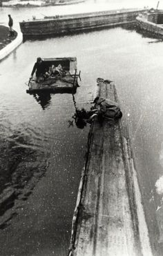 """Caption: """"Diver inspecting a boat sunk at Little Venice on the Paddington Arm of the Grand Union Canal"""" Canal Barge, Canal Boat, London Pictures, Venice, Britain, Arm, Caption, Places, Boats"""