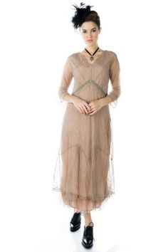 Mother of the Bride Dresses by Nataya Beaded Flapper Dress, Edwardian Dress, Crepe Dress, Victorian Fashion, Mother Of The Bride, Fit And Flare, Vintage Inspired, Fashion Dresses, Flourishes