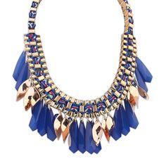Multicolore Géométrique Losange Brillant Déclaration Collier Femmes Colliers et Pendentifs D'été Style Bijoux Collier Colar Pour Cadeau