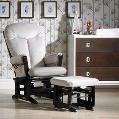 Ultramotion By Dutailier® Nouba Beige Multiposition Lock Glider and Ottoman
