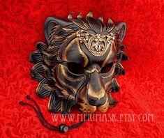 Regal Lion Mask by merimask.deviantart.com on @deviantART