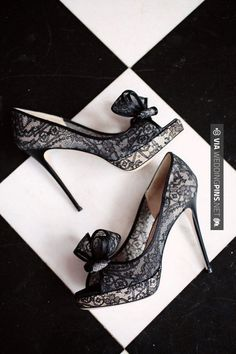 Sweet! - Black and white Wedding - valentino lace shoes / heels   CHECK OUT MORE GREAT BLACK AND WHITE WEDDING IDEAS AT WEDDINGPINS.NET   #weddings #wedding #blackandwhitewedding #blackandwhiteweddingphotos #events #forweddings #iloveweddings #blackandwhite #romance #vintage #blackwedding #planners #whitewedding #ceremonyphotos #weddingphotos #weddingpictures