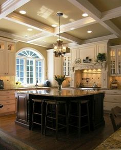 dark island painted cabinets