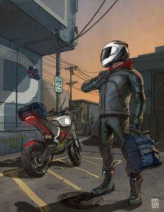 Personal Work on Behance Motorcycle Art, Motorcycle Design, Bike Design, Motorcycle Travel, Arte Lowrider, Cartoon Wallpaper Hd, Wallpaper Art, Bike Drawing, Bike Sketch