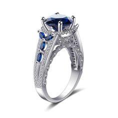 Sapphire Gemstone, Amethyst Stone, Gemstone Rings, Sapphire Rings, Amethyst Jewelry, White Topaz Rings, Types Of Rings, Gold Filled Jewelry, Jewelry Rings