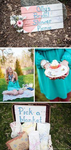 Bridal Shower Picnic cute idea for summer wedding
