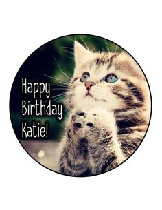 Edible Cake Cupcake Topper Decoration Image Kitten by CakersWorld