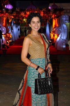 Bollywood, Tollywood & Más: Kangana Ranaut at Mata Ki Chowki