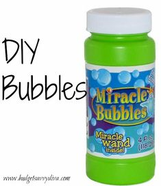 Make your own bubbles!!! Your kids will love it!