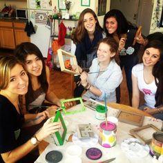 "Zeta chapter at New York University enjoy sisterhood events like ""Giraffe and Crafts"""