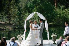 #arch  Photography: Josh Newton - www.joshnewton.com/  Read More: http://www.stylemepretty.com/2014/06/10/wildfire-makes-for-dramatic-wedding-photos/