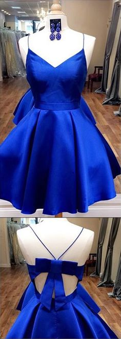 Homecoming Dress,Homecoming Dress Short,Prom Dress Short,Cheap Prom Dresses,Cheap Homecoming Dresses,Cheap Evening Dress,Homecoming Dresses Cheap,Quality Dresses,Party Dress,Fashion Prom Dress,Prom Gowns,Dresses for Girls,Prom Dress,Simple Prom Dresses,Royal Blue Straps Short Homecoming Dress with Ribbon, Short Prom Dress