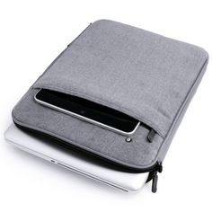 Comfy Wool Computer Sleeve. Love that it can hold my laptop and iPad.