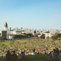 Dolores park, San Francisco  Lhideh Instagram