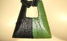 Genuine Snakeskin Vintage 1980's Necklace with by VintagePastTime, $20.00