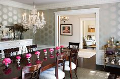 ornate crown molding for traditional dining room