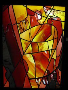 Expositie 10 jaar Master-Glass in museum voor vlakglas- en emaillekunst te Ravenstein. www.museumravenstein.nl. Lid van www.Maasmeanders.nl Foto Ineke Voskamp