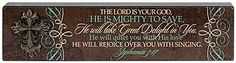 """The #Lord is Your #God, He is Mighty To Save..."" Tabletop #Plaque. #gifts #homedecor #scripture"