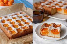 Бисквитный абрикосовый пирог. Именно он летом частый гость на моем столе!