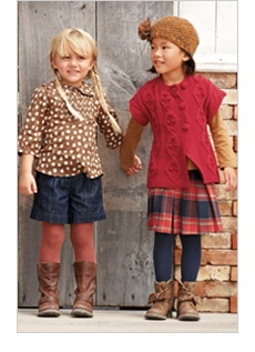 cuties! polka dots are a win for sure!  Love the colors of the outfit on the right and the little hat too!