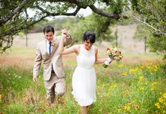 Bride & groom // Loft Photographie // http://blog.theknot.com/2013/09/23/the-cutest-page-boy-ring-bearers-in-texas-hill-country/