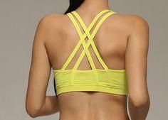 Multicolors Women Padded Top Athletic Vest Movement Sports Bra Yoga Top Aptitud Bra Popular