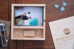 "4"" x 6"" Maple Photo Box and USB Flash Drive Bundle"