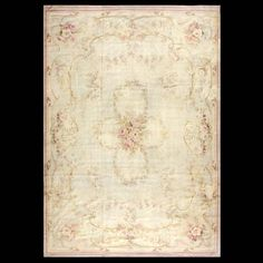 Stock Id: #18273    General Rug Type:       European    Specific Rug Type:       Aubusson    Circa: 1910    Color: Ivory    Origin: France    Width: 8' 0'' ( 243.8 cm )    Length: 11' 5'' ( 348.0 cm )