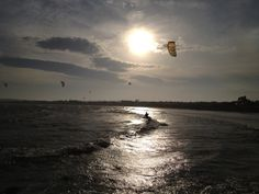 Windsurfing in Skerries Co. Windsurfing, Dublin, Sailing, Ireland, Celestial, Sunset, Boating, Places, Outdoor
