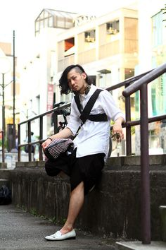 bondage. drape.    ストリートスナップ [ヨシオカアラン] | DAMIR DOMA, JOHN LAWRENCE SULLIVAN, JUUN.J, KOMAKINO, MEMENTO | 原宿 | 2012年09月16日 | Fashionsnap.com