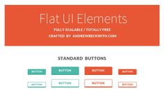 PSD for Flat UI Elements