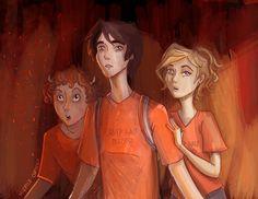 Grover Underwood, Percy Jackson & Annabeth Chase | art by Mirelle Ortega (Artwork)