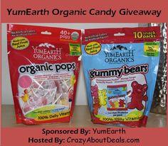 Win 2 bags of YumEarth Organics candy- organic gummy bears & lollipops. ends 2/8/14