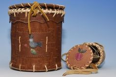 Auction item 'Birchbark baskets with caribou tufting and quills' hosted online at 32auctions.
