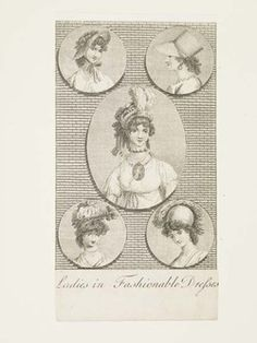 Museum of London | Ladies in Fashionable Dresses Production Date: 1798 ID no: 2002.139/1026