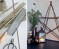 Ster van bamboetakken - Star made out of bamboo Kijk op www.101woonideeen.nl #tutorial #howto #diy #101woonideeen #star #bamboe #ster #bamboo