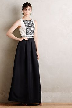 Black Tie Gown #anthropologie