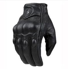 Top Guantes Fashion Glove real Leather Full Finger Black moto men  Motorcycle Gloves Motorcycle Protective Gears Motocross Glove - Best  Electronics Store To ... 24f9dd48604