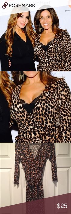INC animal print dress Long sleeve animal print dress with belt tie. Stretches. No obvious rips or tears. Worn once by star of RHONJ. Dresses Long Sleeve