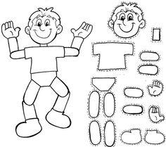 CUERPO HUMANO PARA ARMAR dibujo para colorear del cuerpo humano http://rocio-tecuentouncuento.blogspot.com/2014/02/cuerpo-humano-para-armar.html::