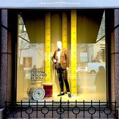 """NEIMAN MARCUS, Michigan Avenue, Chicago, Illinois, """"Custom tailoring paired with quality of design. Perfection in personal style"""", photo by Krstin, pinned by Ton van der Veer"""