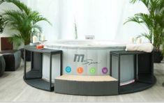 China New! Portable Inflatable LED Massage SPA Hot Tub (Oasis M ...