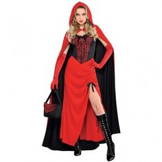 Click that link to learn more about Adults Riding Hood Enchantress Costume Size 14-16 by weeabootique!